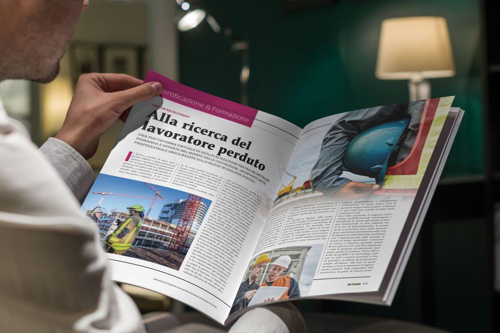 L'articolo geoJOB di settembre sul Magazine Sollevare